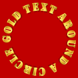 Text around a circle (Stencil)